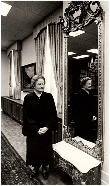 Chief Justice Sharp in the Conference Room of the Court